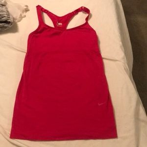 Nike racerback top for fitdry for running